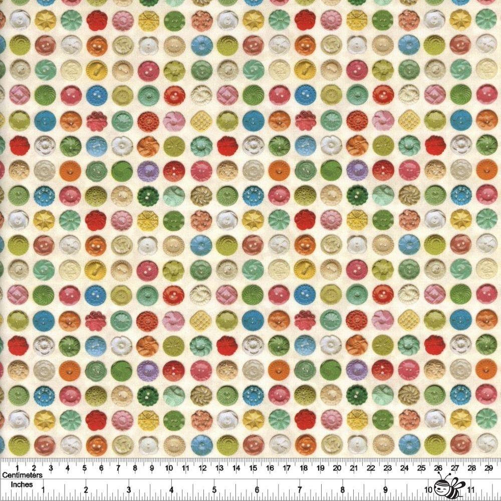 Flea Market Mix - Bakelite Buttons - Parchment