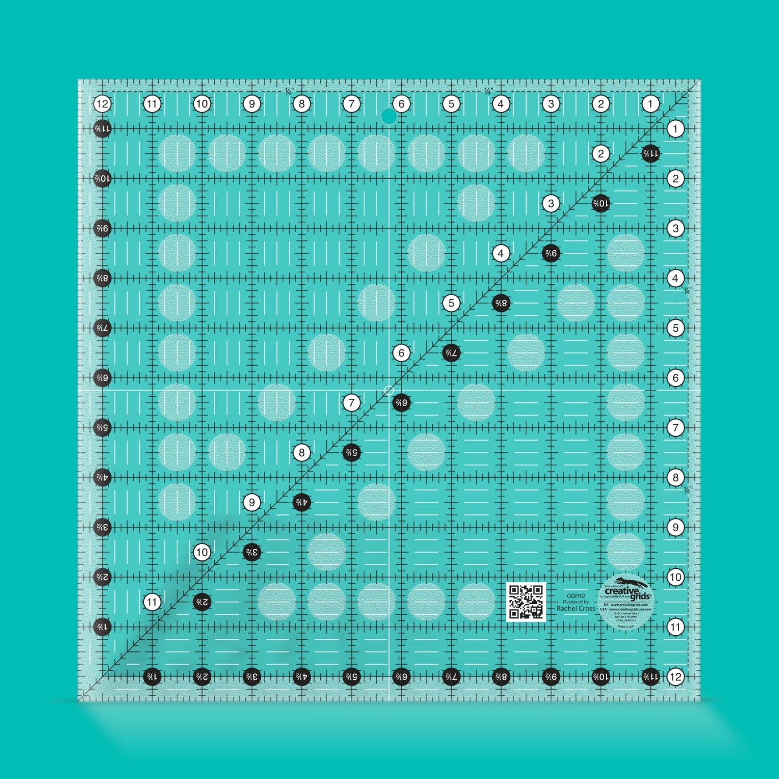 Ruler: 12 1/2 Square