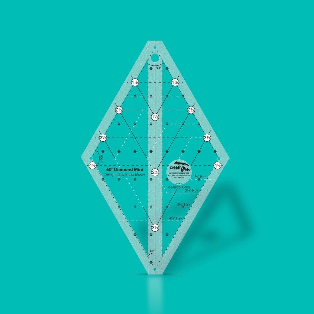 Ruler: 60 Degree Diamond Mini