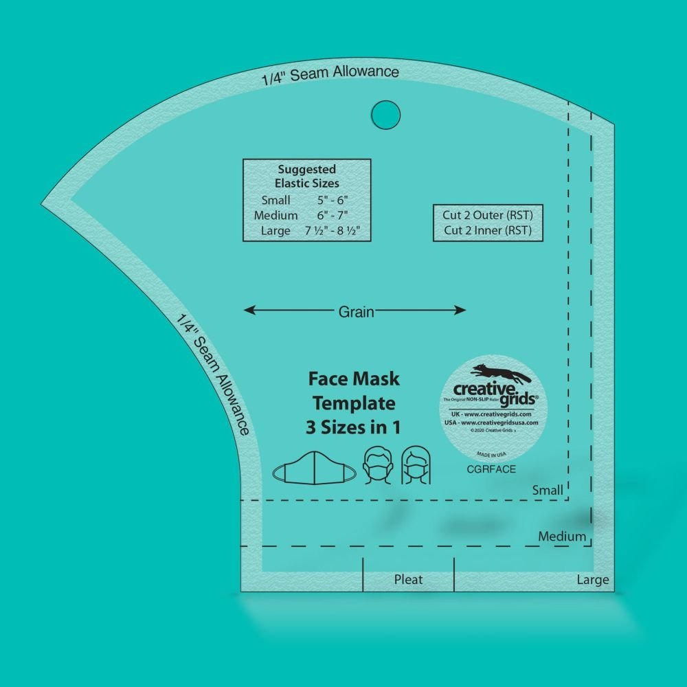 Ruler: Face Mask Template - 3 Sizes in 1
