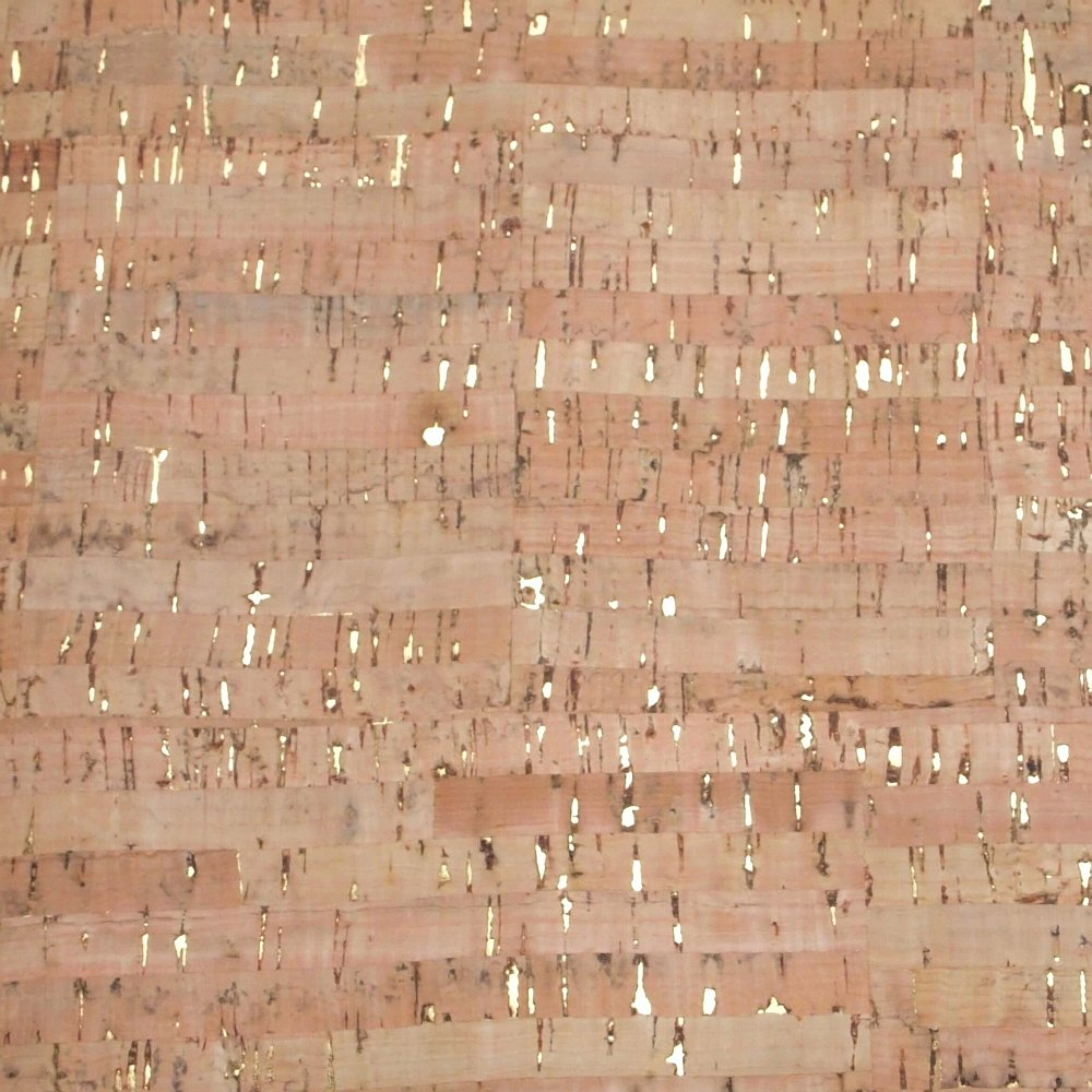Cork Fabric - Natural with Gold - 1 yard