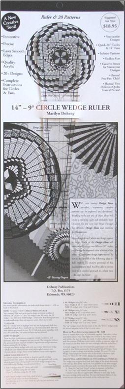 Ruler: 25 9° Circle Wedge Ruler