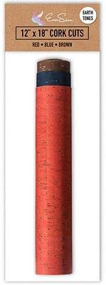 Cork Fabric - 12 x 18 Cuts - Earth Tones