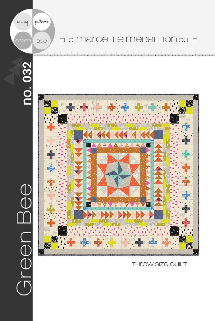 Green Bee - Marcelle Medallion Quilt