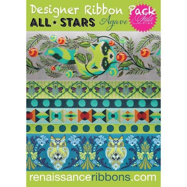 Designer Ribbon Pack - Tula Pink All Stars - Agave