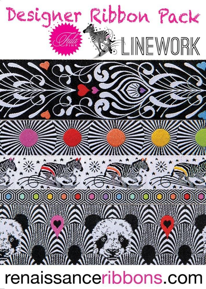 Designer Ribbon Pack - Tula Pink Linework