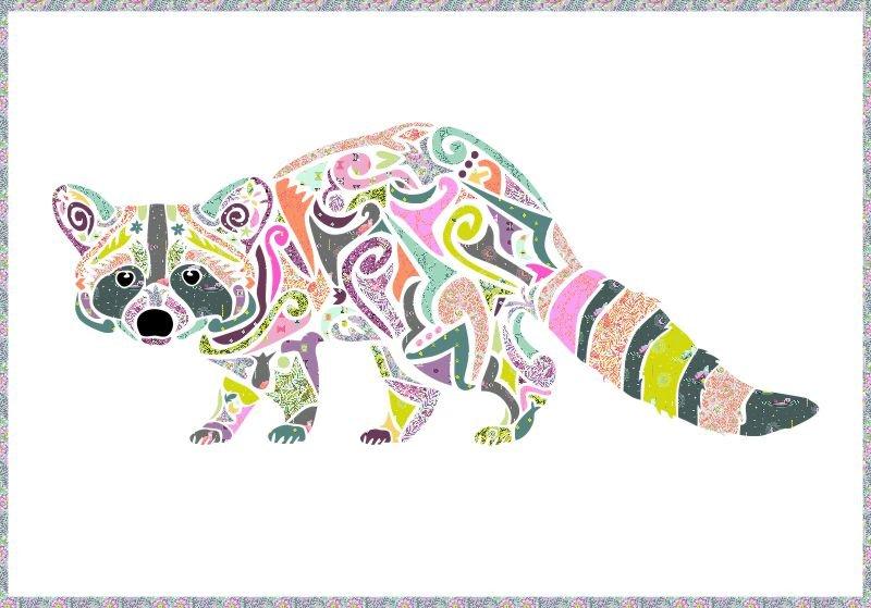 Laser Cut Quilt Kit - Reginald Raccoon