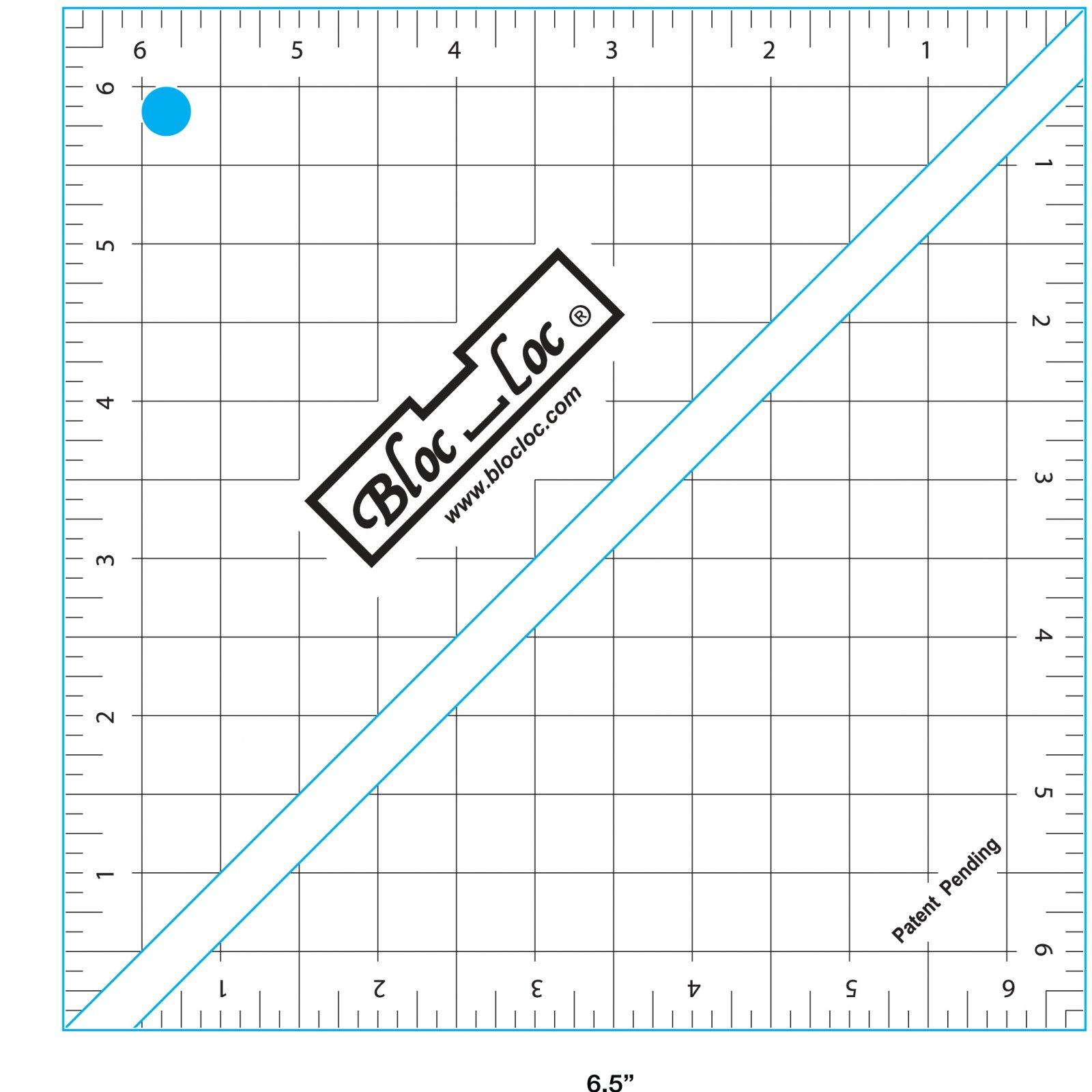 Ruler: Bloc Loc - 6.5 Half Square Triangle
