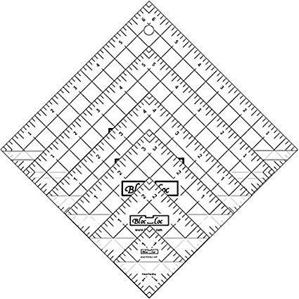Ruler: Bloc Loc - Half Square Triangle Set #1