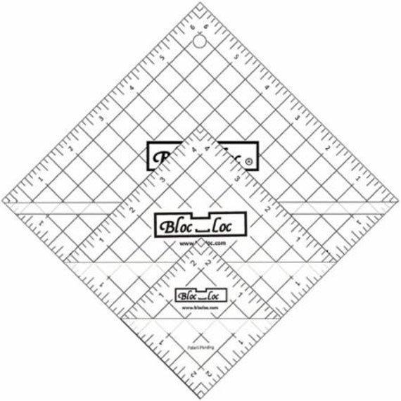 Ruler: Bloc Loc - Half Square Triangle Set #2