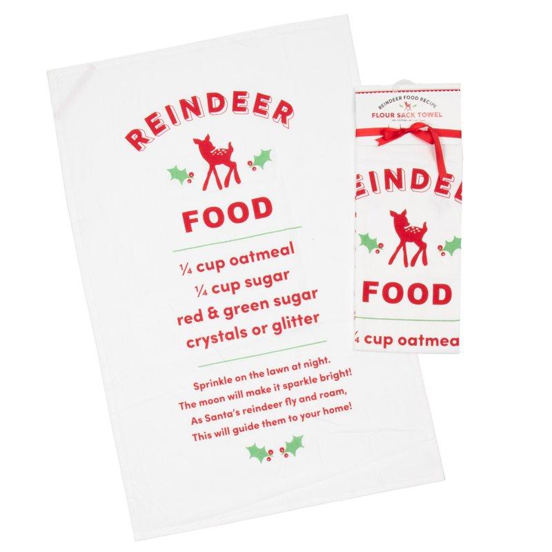 Kitchen Towel - Deer Christmas Flour Sack