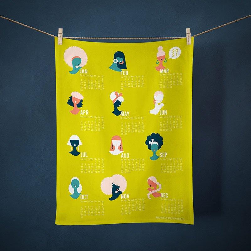 2021 Calendar Tea Towel - Hey Ladies!