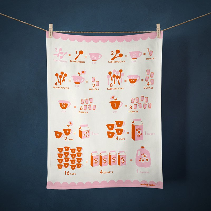 2021 Calendar Tea Towel - Measurement