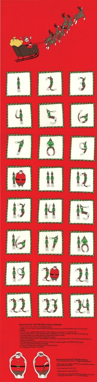 Santa's Little Helpers - Advent Panel - Red