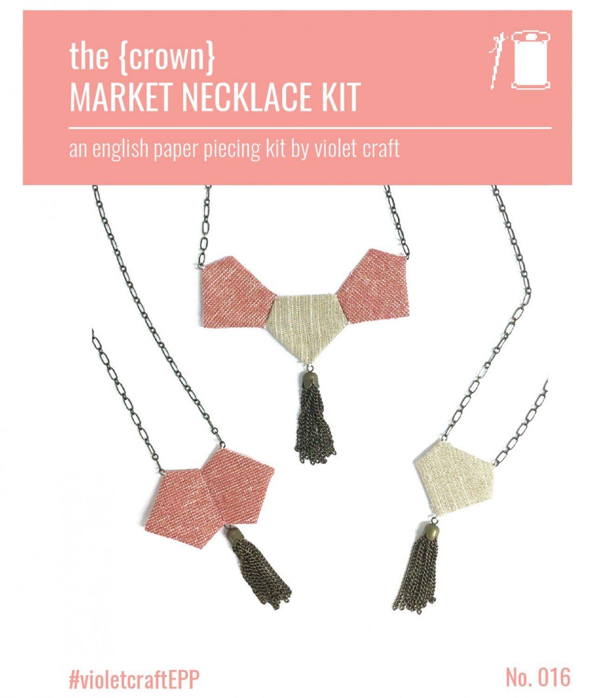Violet Craft - The {crown} Market Necklace Kit
