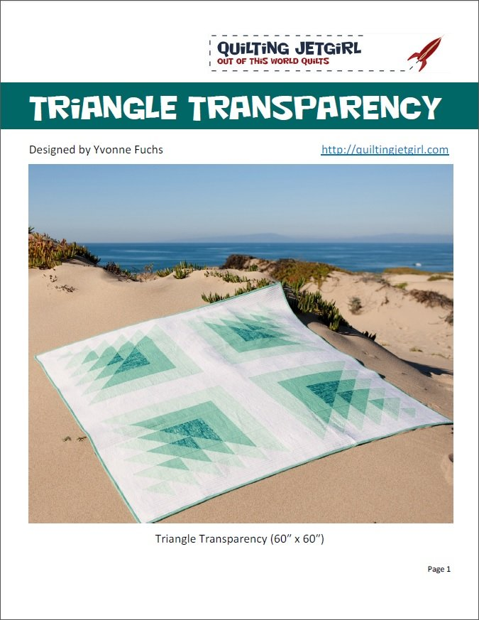 Quilting Jetgirl - Triangle Transparency