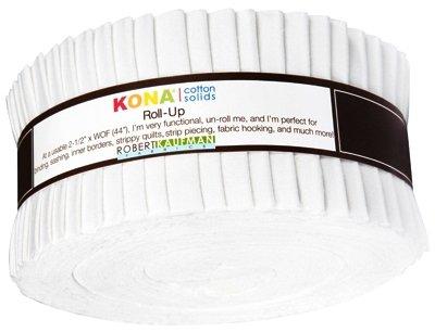 2 1/2 Roll - Kona Solids - White