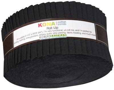 2 1/2 Roll - Kona Solids - Black
