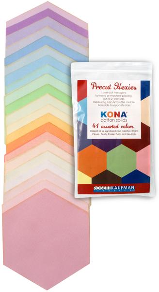Precut Hexies - Kona Pastel Palette