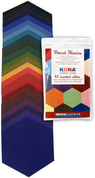Precut Hexies - Kona Dark Palette