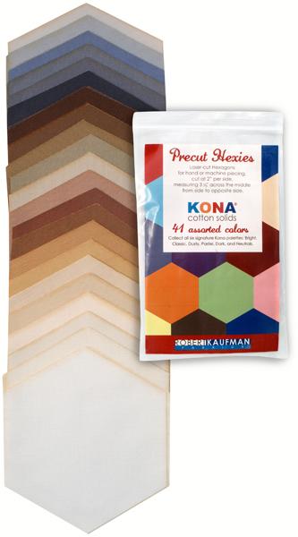 Precut Hexies - Kona Neutrals Palette