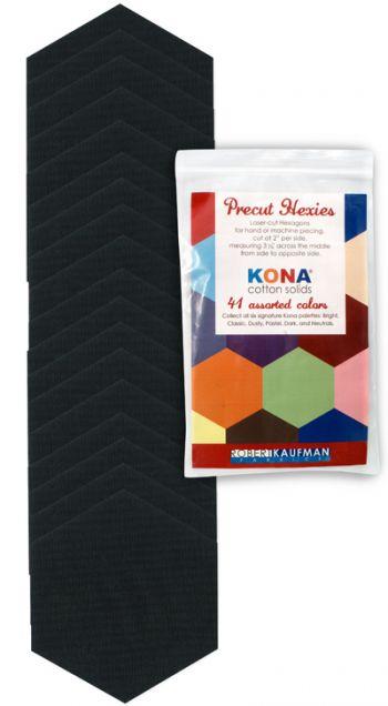 Precut Hexies - Kona Black