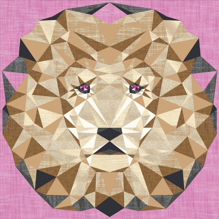 Quilt Kit - Jungle Abstractions Quilt: The Lion