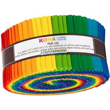 2 1/2 Roll - Kona Cotton - Bright Rainbow