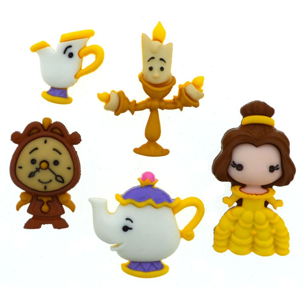 Buttons - Disney Beauty & the Beast