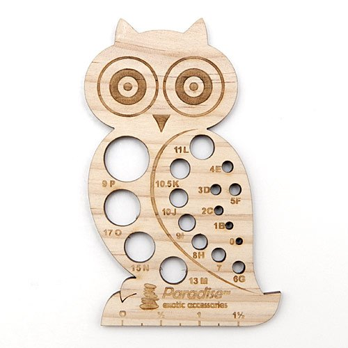 Knitting Needle Gauge - Owl