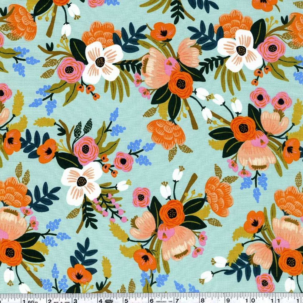 Amalfi - Lively Floral Rayon - Mint