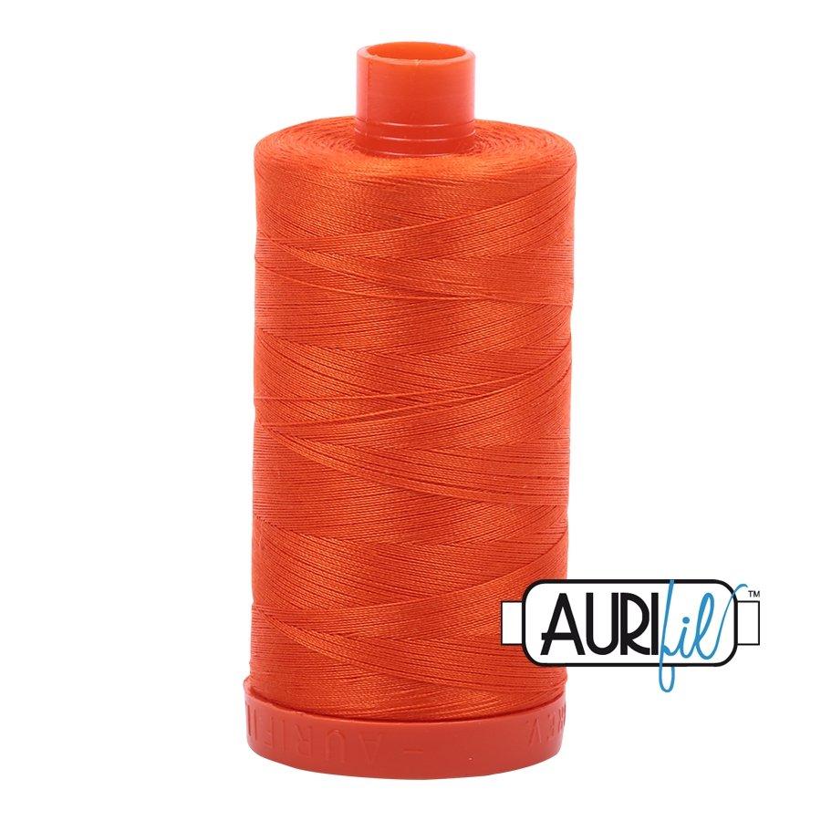 AURIfil Thread - 50wt 100% Cotton Mako Thread - Neon Orange #1104