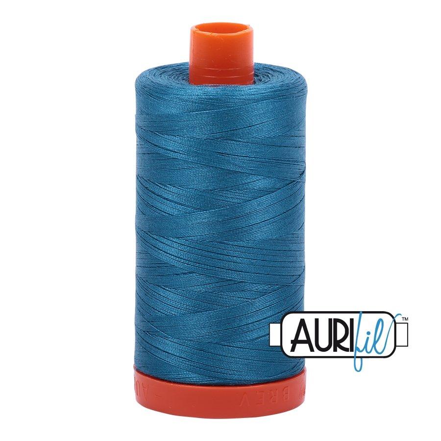 AURIfil Thread - 50wt 100% Cotton Mako Thread - Medium Teal #1125
