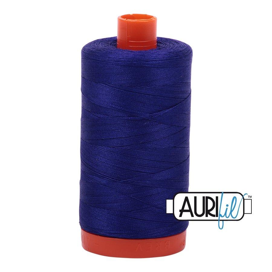 AURIfil Thread - 50wt 100% Cotton Mako Thread - Blue Violet #1200