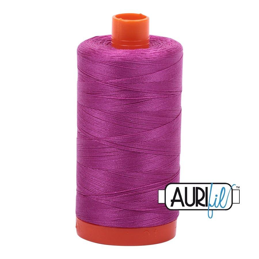 AURIfil Thread - 50wt 100% Cotton Mako Thread - Magenta #2535