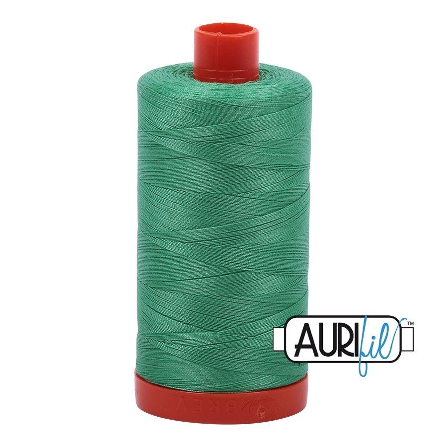 AURIfil Thread - 50wt 100% Cotton Mako Thread - Light Emerald #2860