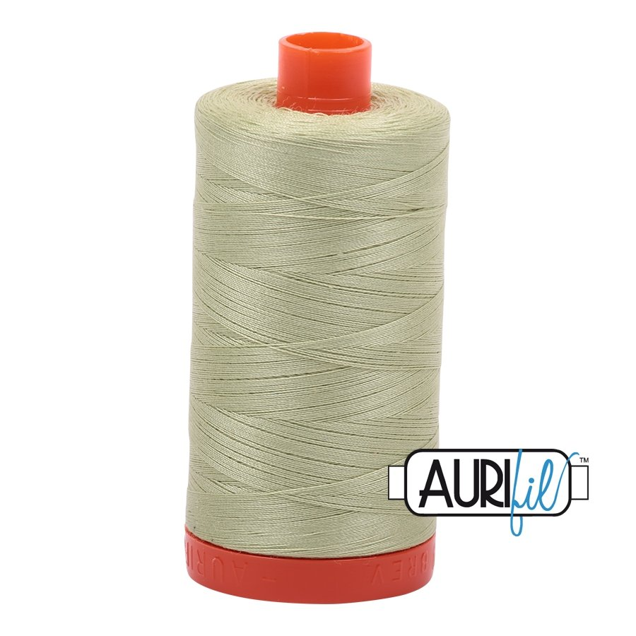 AURIfil Thread - 50wt 100% Cotton Mako Thread - Light Avocado #2886