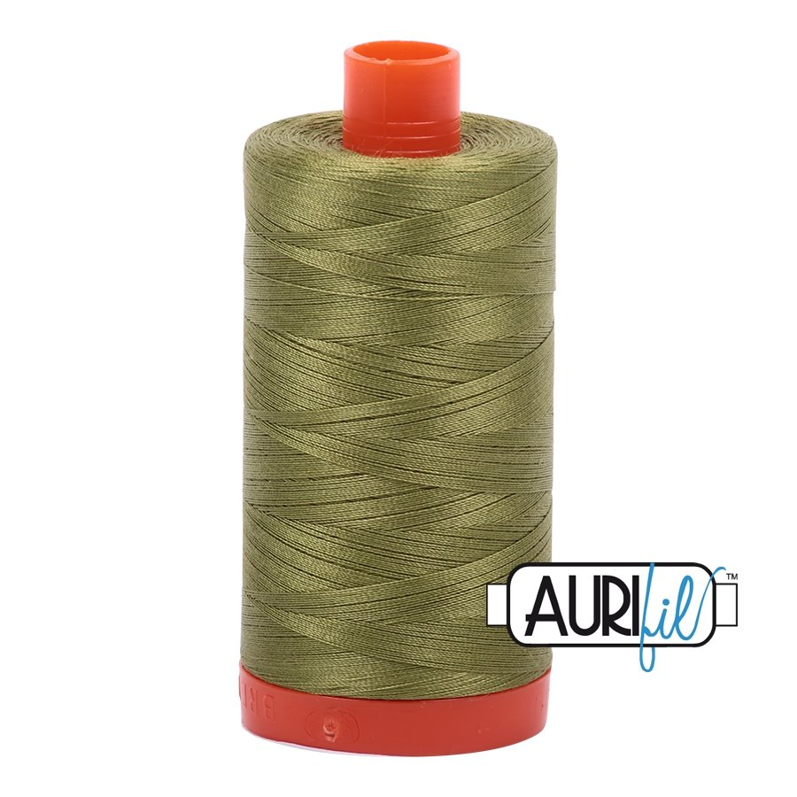 AURIfil Thread - 50wt 100% Cotton Mako Thread - Olive Green #5016