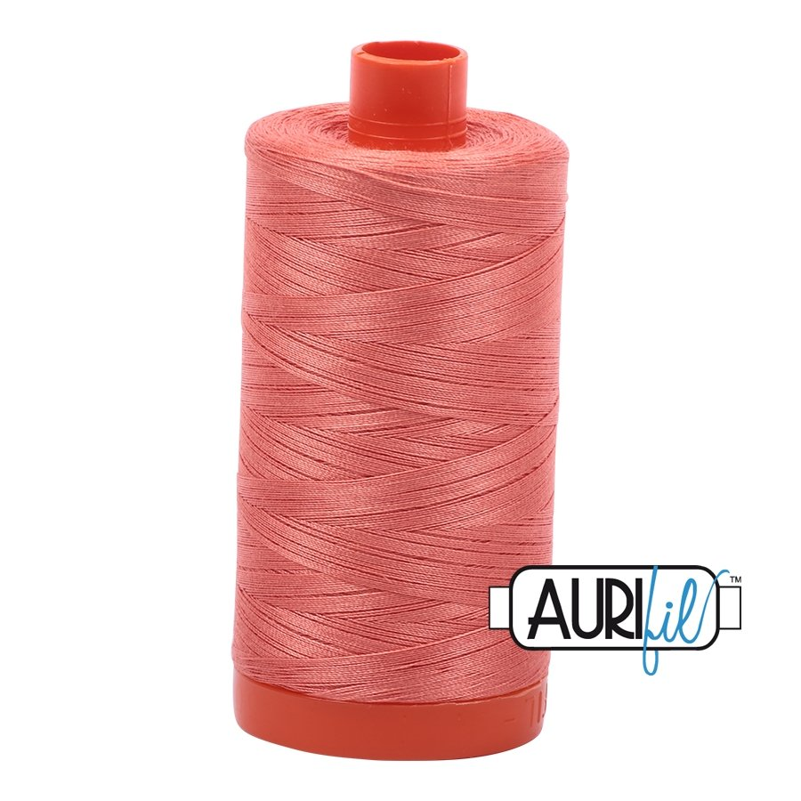 AURIfil Thread - 50wt 100% Cotton Mako Thread - Tangerine Dream #6729