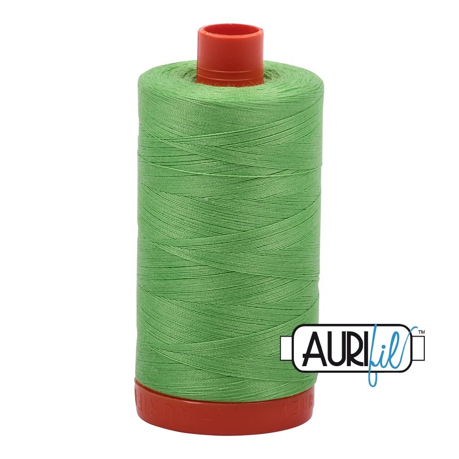 AURIfil Thread - 50wt 100% Cotton Mako Thread - Shamrock Green #6737
