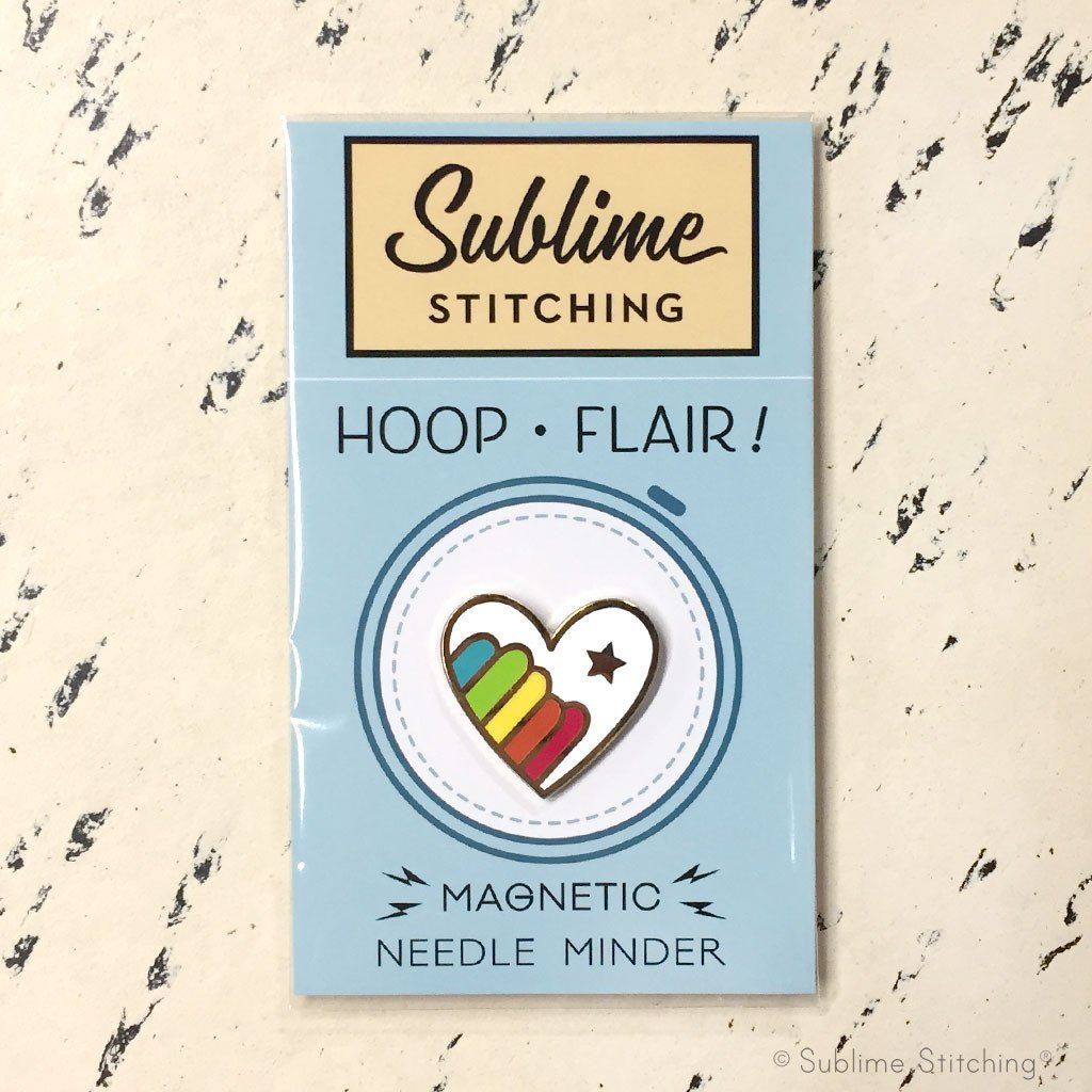 Sublime Stitching - Hoop Flair - Rainbow Heart Magnetic Needle Minder