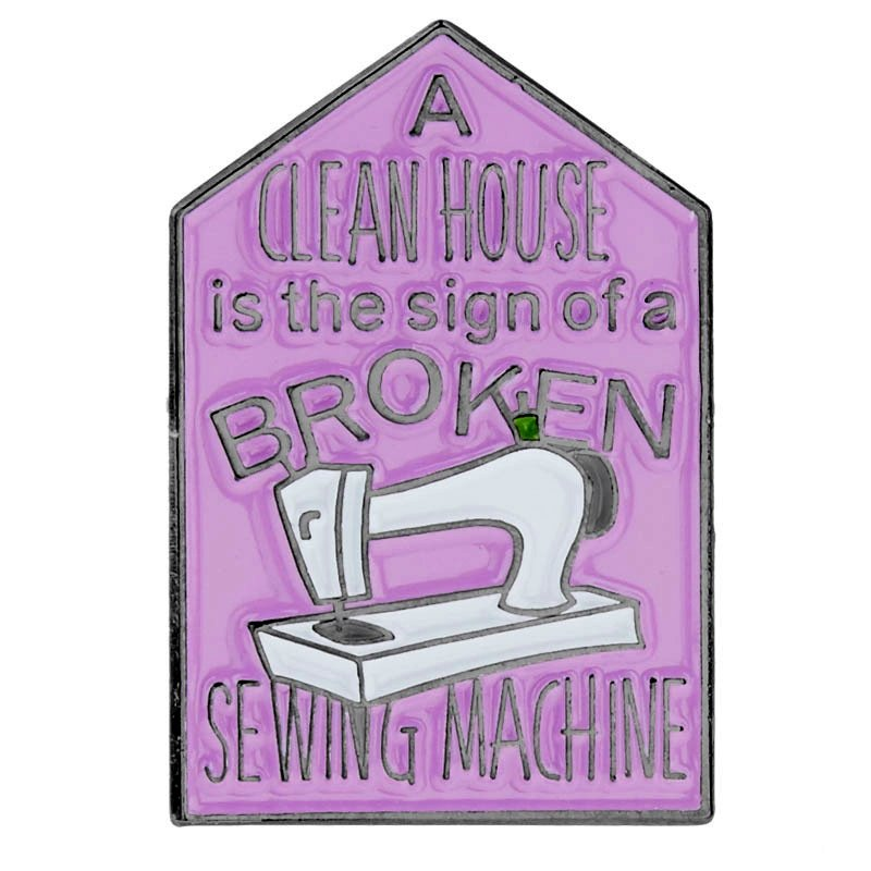 Enamel Pin - A Clean House