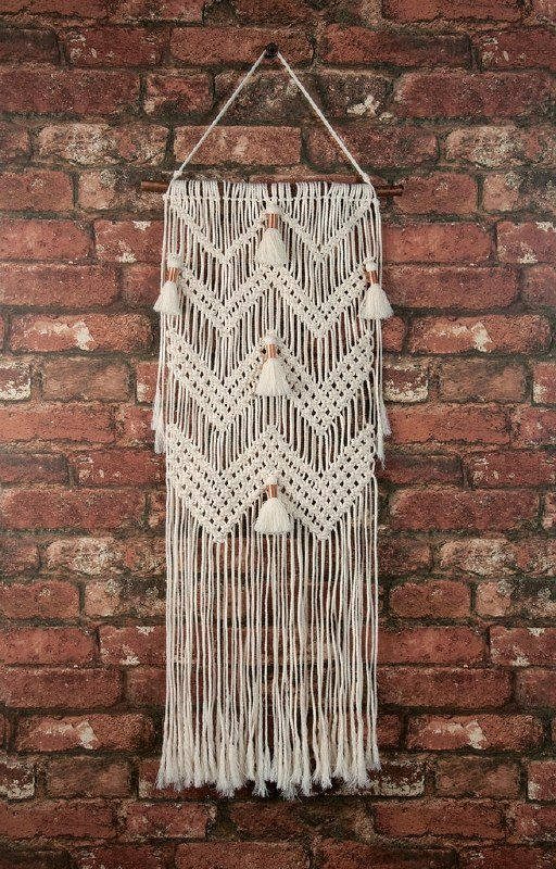 Macrame Kit - Wall Hanging - Chevrons with Tassels