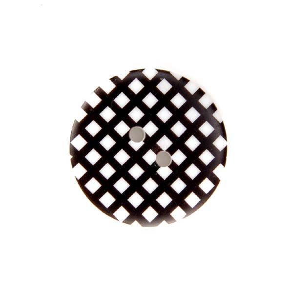 Gingham Buttons - Black
