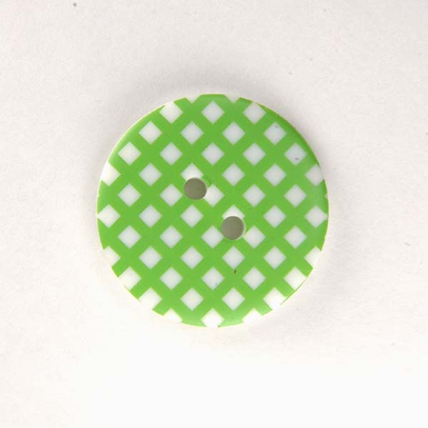 Gingham Buttons - Lime Green
