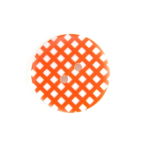 Gingham Buttons - Orange