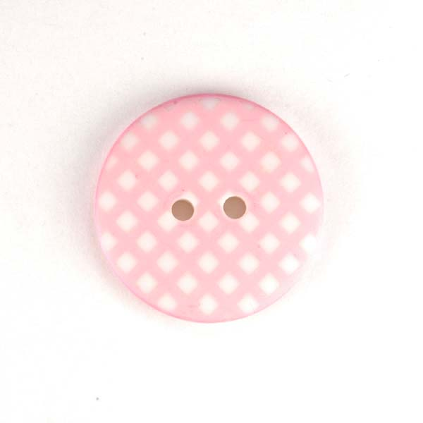 Gingham Buttons - Baby Pink