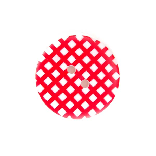 Gingham Buttons - Red
