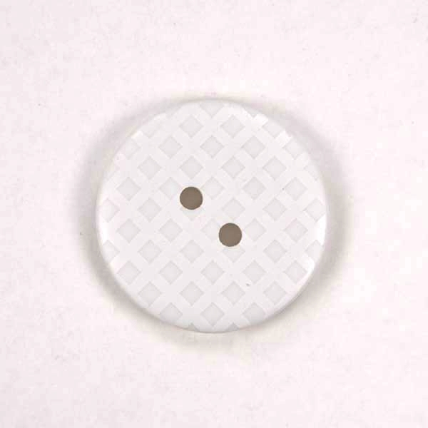 Gingham Buttons - White