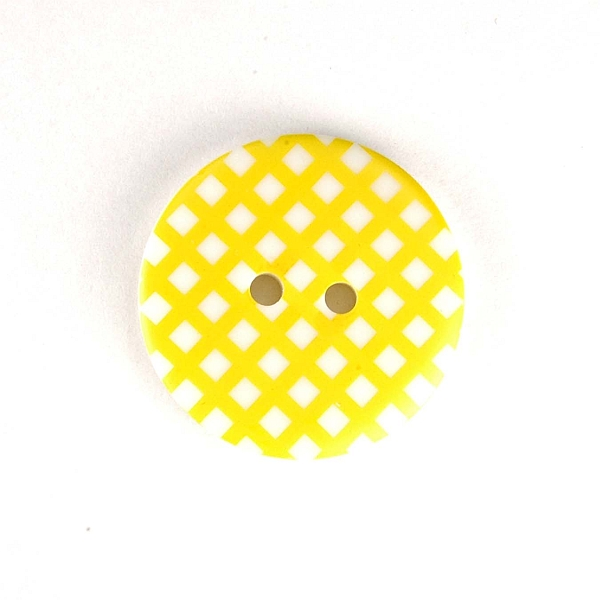 Gingham Buttons - Yellow